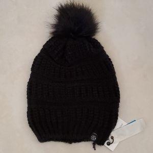 NWT Treasure & Bond Black Chunky Knit Pom Beanie